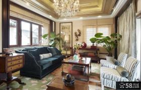 中式古典风格设计别墅装修效果图