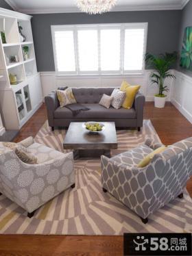 欧美简约风格家装客厅设计图片