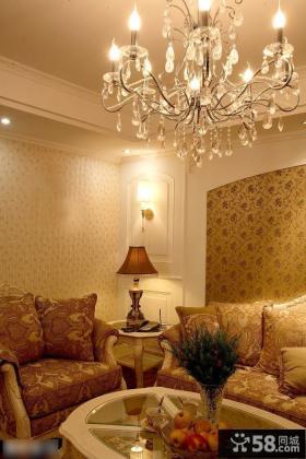 欧式风格客厅水晶灯图片