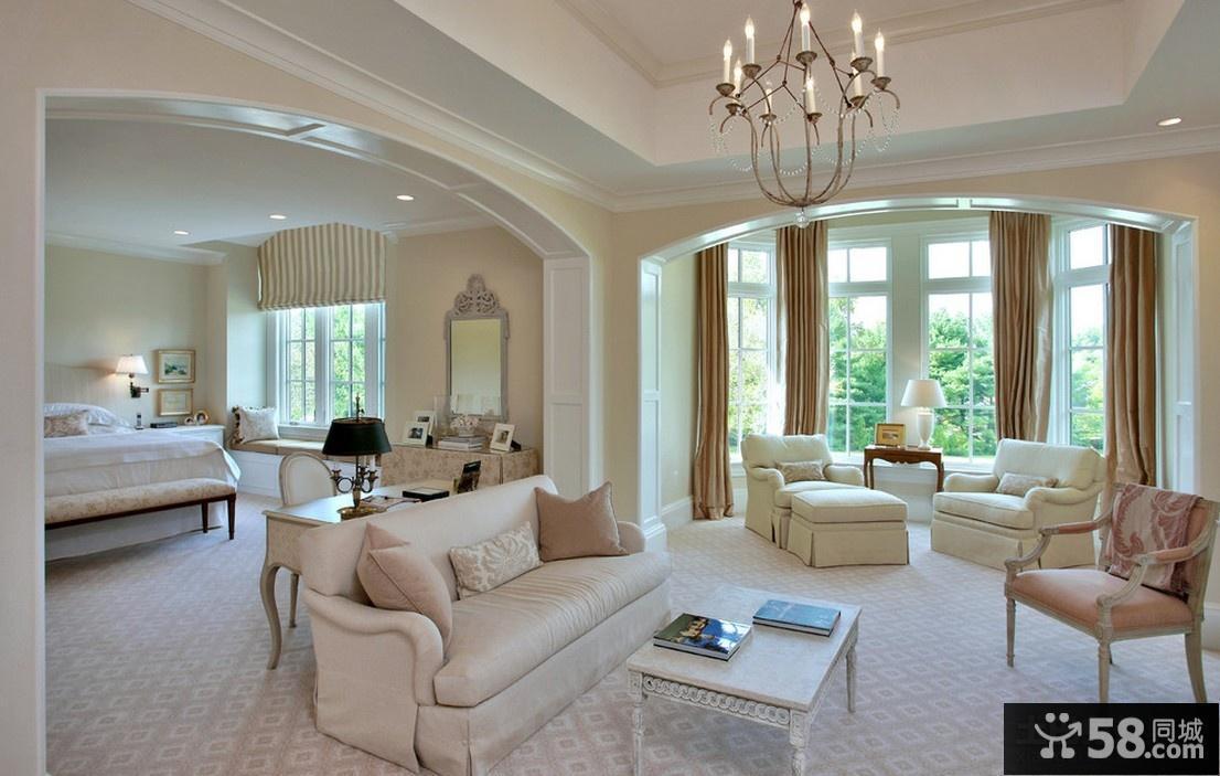 现代欧式风格客厅家具摆设效果图
