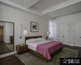 灰色素雅的卧室装修效果图大全2012图片