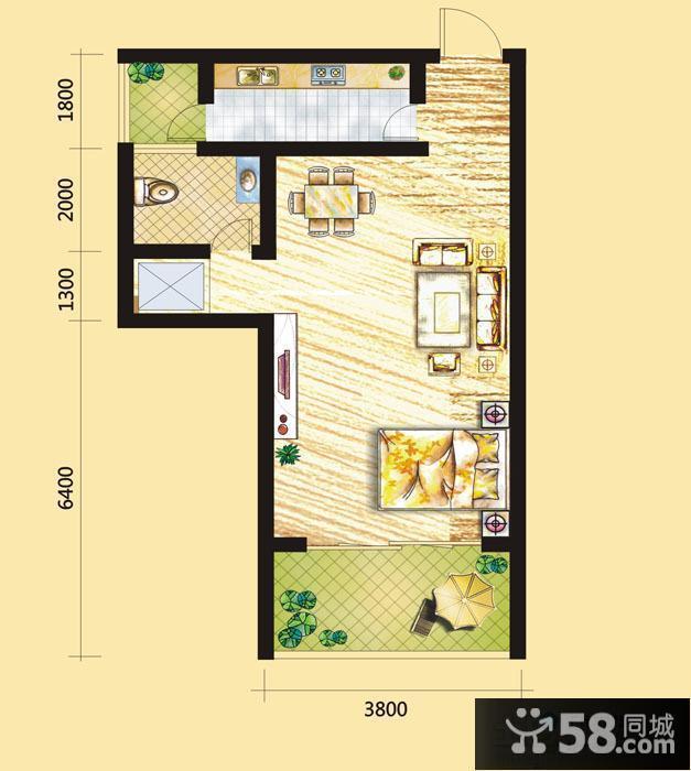 40平米小户型房屋平面设计图图片