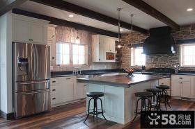 美式仿古风格厨房设计图片
