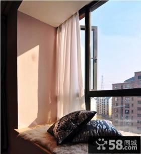 阳台飘窗窗帘效果图欣赏