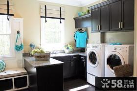 家用阳台洗衣房装修效果图
