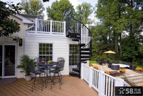 现代设计露天阳台效果图
