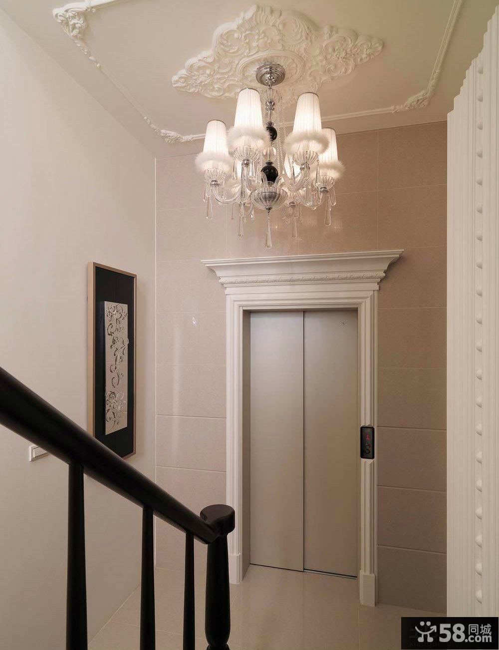 欧式别墅楼梯间吊顶装修效果图大全