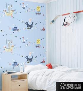 简约儿童卧室设计墙纸效果图