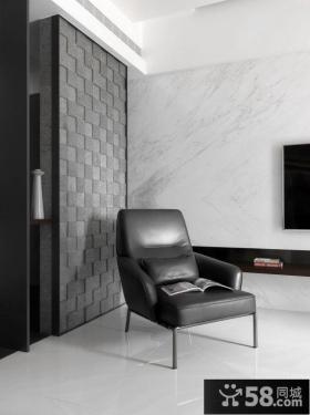现代真皮单人沙发图片