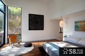 农村别墅简约大方的客厅电视背景墙装修效果图