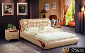 现代风格卧室家具软床图片