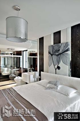 现代两室两厅卧室背景墙装修效果图大全