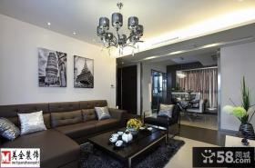现代简约70平米小户型客厅装修效果图欣赏