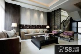 现代装修风格家装客厅沙发背景墙效果图