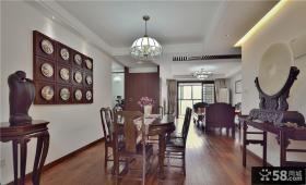 138平中式古典风格三居室装修图片