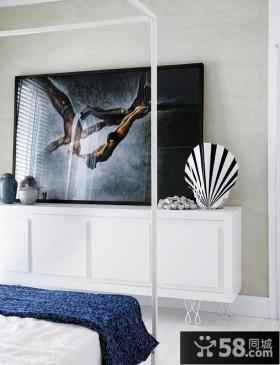 二室一厅现代风格卧室背景墙装修效果图