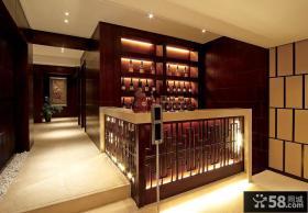 中式风格复式红酒柜效果图大全
