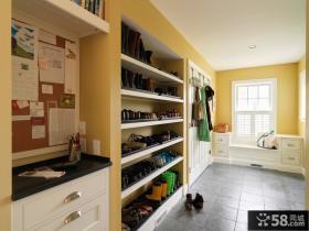 进门玄关鞋柜设计装修效果图