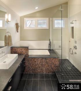 简约风格的家装卫生间装饰设计图片