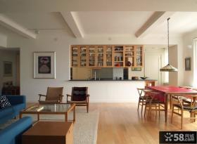 现代简约70平米小户型装修样板间客厅