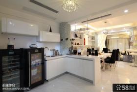 现代风格厨房隔断餐厅图片
