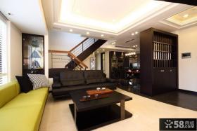 内敛沉稳现代风格三室两厅家居设计效果图
