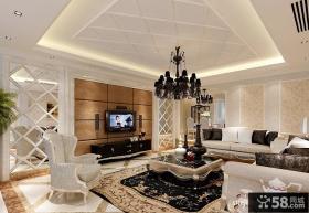 简欧式客厅电视背景墙装修效果图大全2012图片