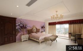 现代欧式卧室装修设计效果图