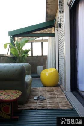 室外客厅小阳台装修效果图