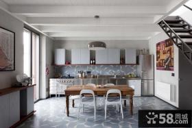 现代简约复式楼装修厨房效果图