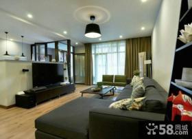 现代装饰客厅电视背景墙