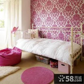 家装卧室欧式壁纸贴图