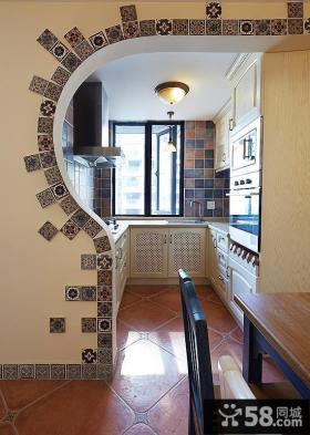 地中海风格小厨房造型图片
