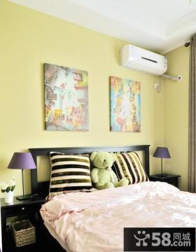 婚房卧室床头装饰画效果图片