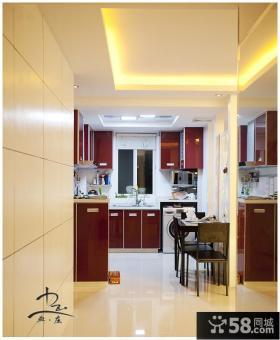 现代简约小户型厨房装修图