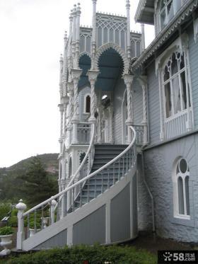 欧式别墅室外楼梯效果图