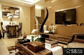 时尚美式客厅电视背景墙设计图