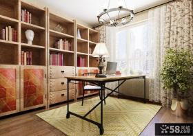 美式乡村风格室内书房装修效果图片