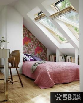 2014优质现代风格别墅阁楼卧室装修效果图