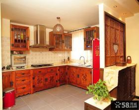 美式风格设计厨房图欣赏2015大全