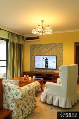 卧室电视墙装修效果图大全2013图片