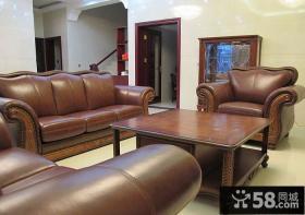 客厅美式实木家具图片