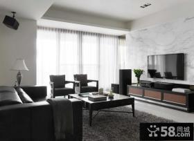 现代时尚设计装修客厅电视背景墙效果图