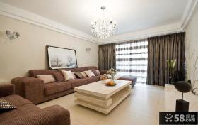家庭客厅简单装修效果图大全