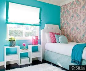 地中海小卧室壁纸装修效果图
