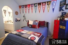 美式创意风格卧室设计图片