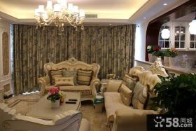优质欧式客厅窗帘图片设计