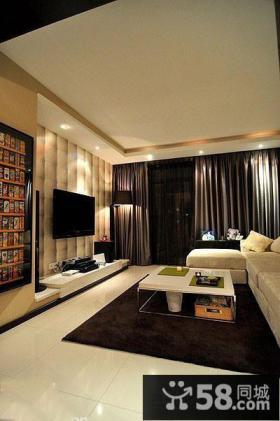 现代客厅电视背景墙装修效果图大全图
