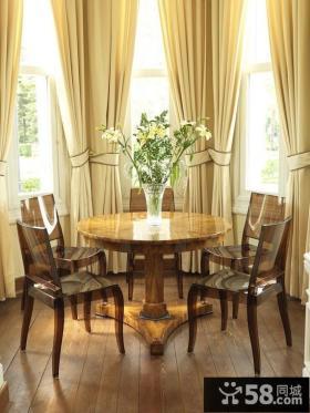 阳台餐厅装修效果图 阳台窗帘装修图片