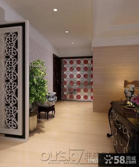 新中式玄关装修设计效果图大全2013图片